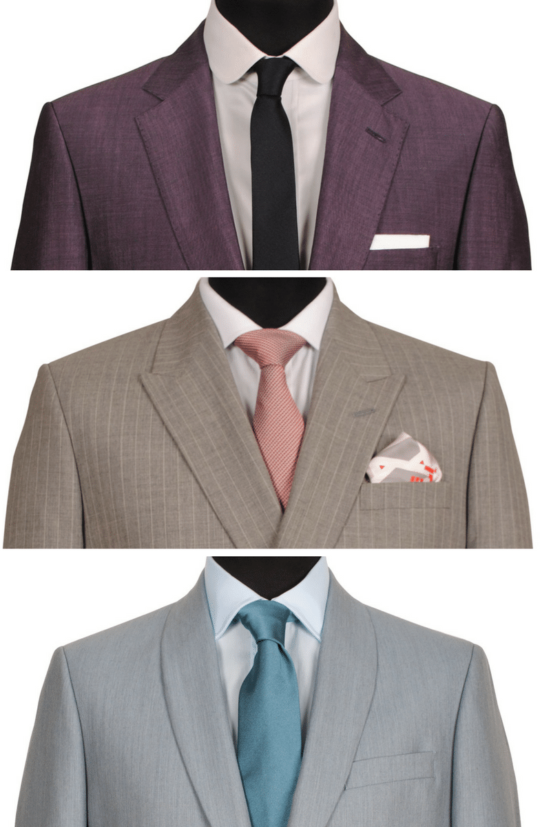 Here are the three types of lapels used in tailoring: (from top to bottom) Notch, Peak and Shawl Lapel