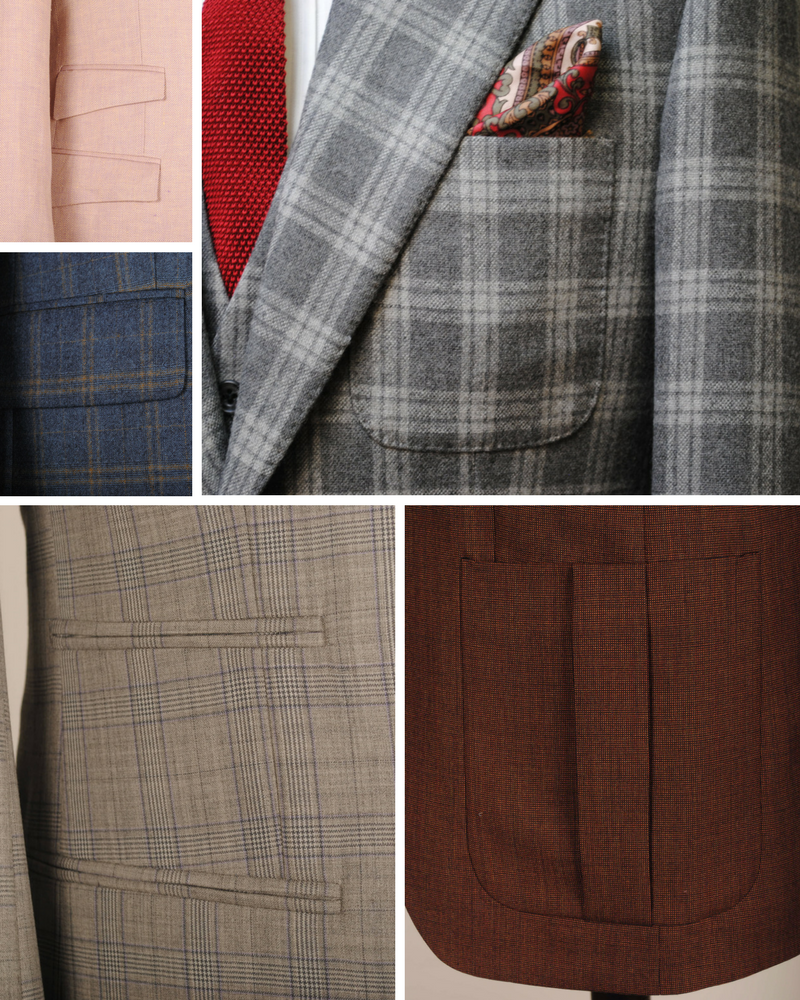 Utilising an unexpected pocket choice is a great way to update a traditional suit.