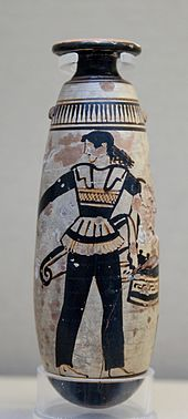 A vase depicting trousers dating back to about 470 BC