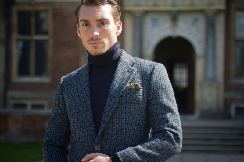 A fantastic King & Allen sports jacket in thick Harris Tweed