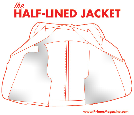 An excellent illustration of what a half-lining looks like by Primer Magazine