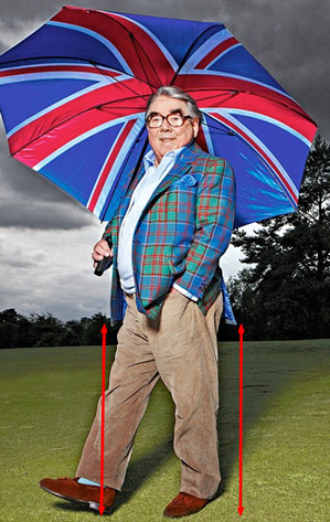 Ronnie Corbett: A class act. Despite the belly, the front and the back of the jacket are the same distance from the ground