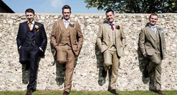 Leave the business suit at home when attending a wedding!