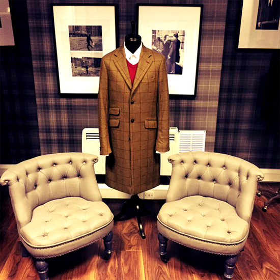 Red windowpane check, as seen in our Liverpool Street showroom