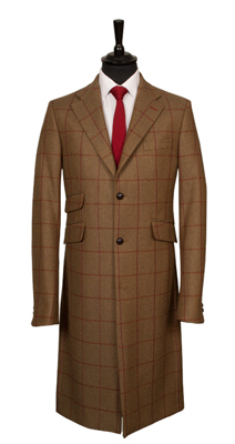 Harris Tweed bespoke overcoat