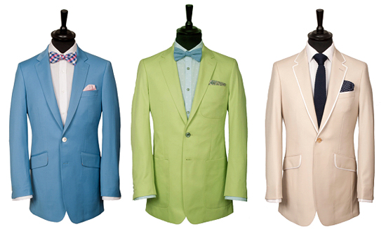 The light-coloured suit – a fashionable way of keeping cool this summer.