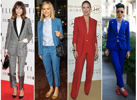 Alexa Chung, Taylor Schilling, Heidi Klum and Esther Quek – Power suit wearers of today.