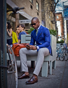 Mix colours with different trousers and jackets