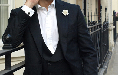 Add a bespoke touch with a flower boutonniere