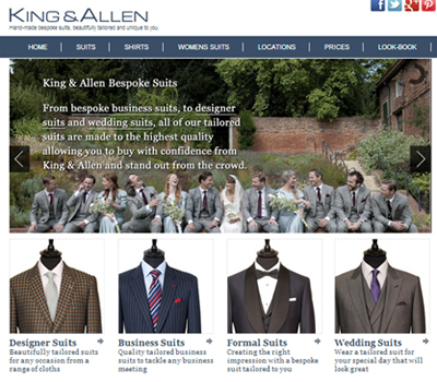 King & Allen: The original re-inventors of the bespoke suit.