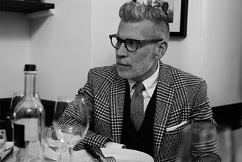 This is Nick Wooster – style blogger and accomplished accessory wearer.