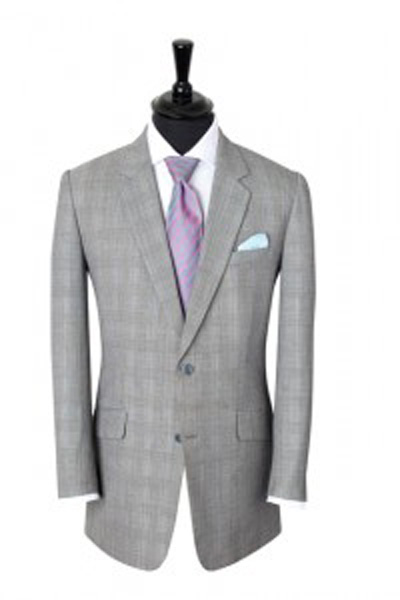 A classic Prince of Wales check suit
